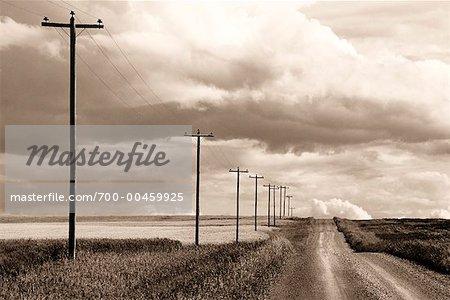 Gravel Country Road, Alberta, Canada