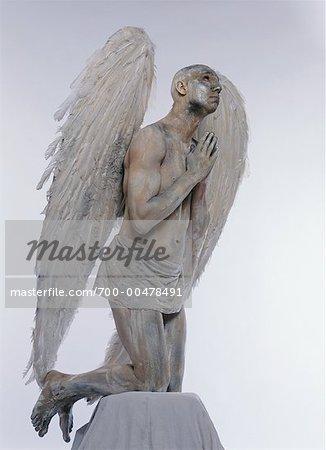 Man Posing as Angel