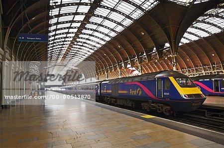 Train Platform at Paddington Station, London, England