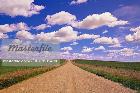 Dirt Road and Sky, Alberta, Canada