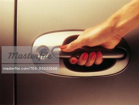 car door handle hand. Unique Car Woman Opening Car Door  Stock Photo In Handle Hand O