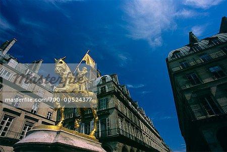 Statue of Joan of Arc, Place des Pyramides, Paris, France