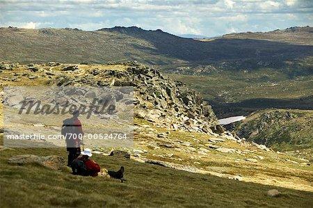 Hikers Resting, Kosciuszko National Park, New South Wales, Australia
