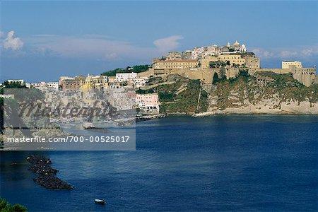 Coricella Harbor, Procida, Naples, Italy