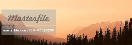 Mount Cephren and the Mistaya Valley, Banff National Park, Alberta, Canada