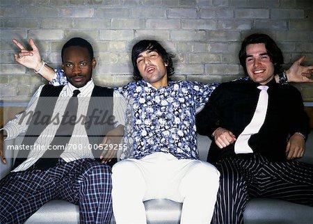 Portrait of Men at Nightclub