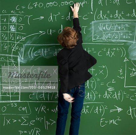 Man Erasing Chalkboard