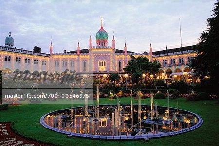 Fountain, Tivoli Gardens, Copenhagen, Denmark