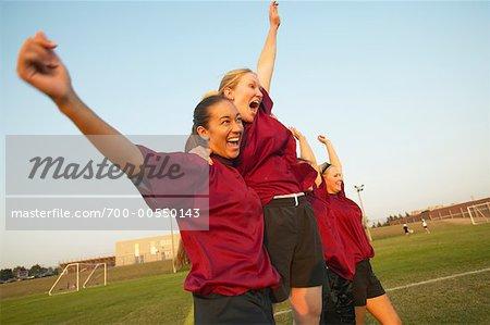 Soccer Team Cheering