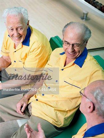 Men in Bowling Alley