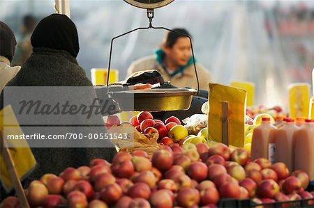 Vendor at Union Square Farmer's Market, New York City, New York, USA