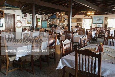 Dining Room at Fishing Lodge, Baja, Mexico