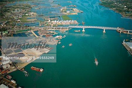 Aerial of Harbour, Cebu, Philippines