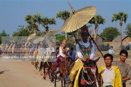 Procession On Horseback, Bagan, Myanmar
