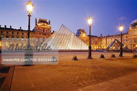 Exterior of The Louvre, Paris, France