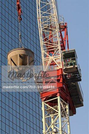 Crane With Concrete Bucket