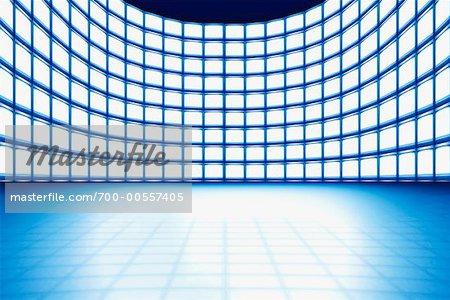 Rows of Monitors