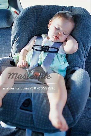 Sleeping Baby In Car Seat