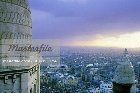 Paris Viewed from La Basilique du Sacra Coeur de Montmartre, France