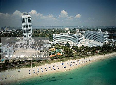 Fontainebleau Hilton Hotel Miami Beach Florida Usa Stock Photo