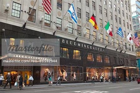 Exterior Of Bloomingdales Store, New York City, New York, USA   Stock Photo