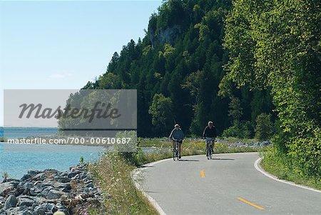 People Biking, Mackinac Island, Michigan, USA