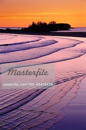Chesterman Beach at Sunset, Vancouver Island, British Columbia, Canada