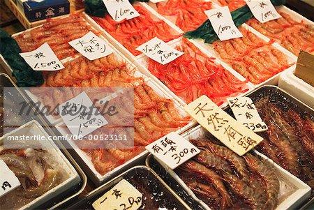 Shrimp, Tsukiji Fish Market, Tokyo, Japan