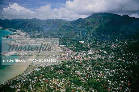 Overview of Coastal City, Victoria, Mahe, Seychelles