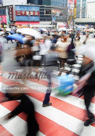 People Crossing Street, Tokyo, Japan