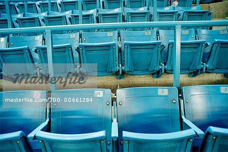 Close Up of Stadium Seats