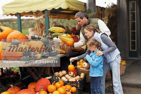 Family at Farmer's Market