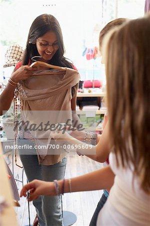 Teenaged Girls Shopping