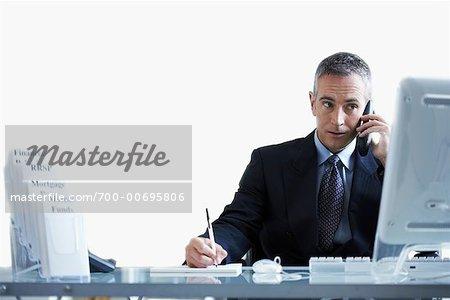 Financial Advisor Working at Desk