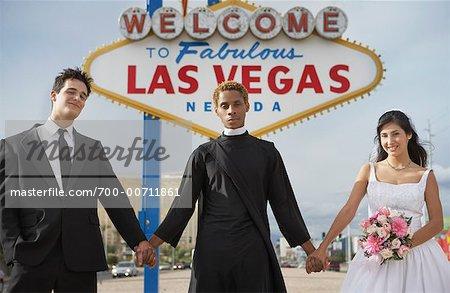 Wedding Ceremony by Sign, Las Vegas, Nevada, USA