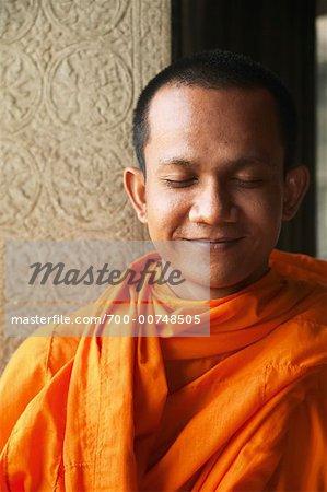 Portrait of Monk, Angkor Wat, Cambodia