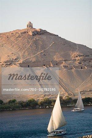 Felucca, Nile River, Aswan, Egypt