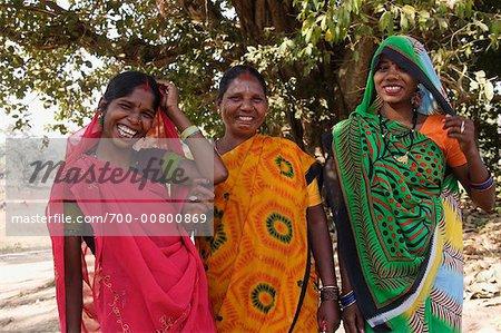 05eb16f953 Portrait of Indian Women, Madhya Pradesh, India - Stock Photo ...
