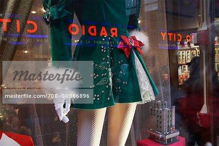Mannequin in Store Window at Rockefeller Plaza Near Radio City Music Hall, NY, NY, USA