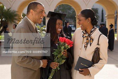 Portrait of Graduate with Parents