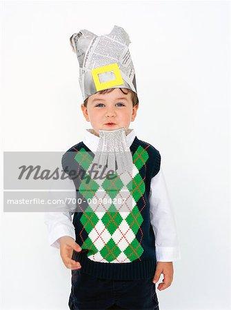 Boy Playing Dress-Up