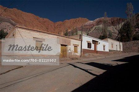 Buildings Below Seven Colours Hill, Purmamarca, Jujuy Province, Argentina