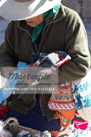 Woman Making Clothing, Purmamarca, Jujuy Province, Argentina