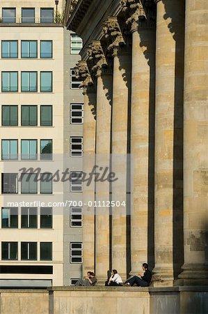 People by City Buildings, Berlin, Germany