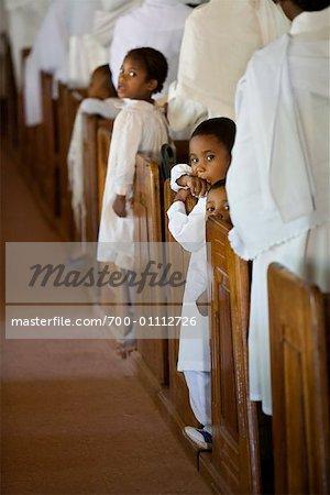 Children in Church Pews, Soatanana, Madagascar