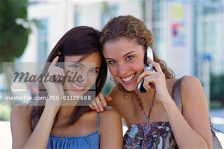 Women Using Cell Phones
