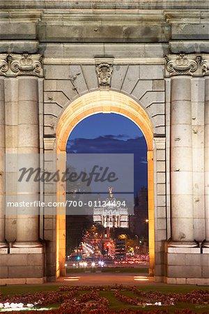 Puerta de Alcala in the Plaza de la Independencia, Madrid, Spain