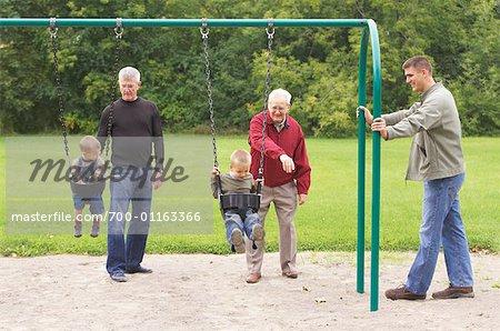 Multigenerational Family in Playground