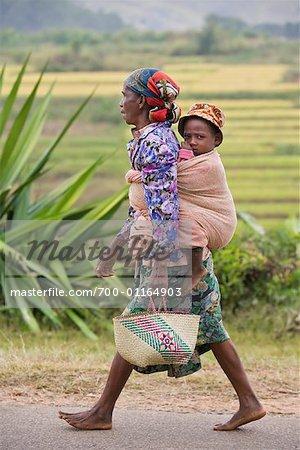 Mother and Child Near Fianarantsoa, Madagascar