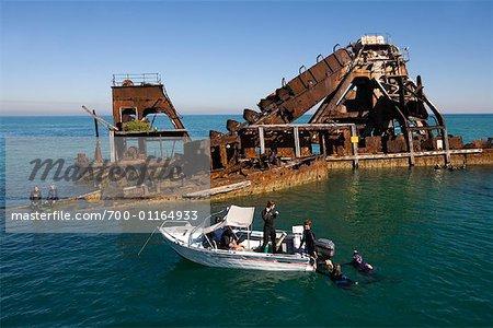 Snorkeling by the Tangalooma Wrecks, Moreton Island, Queensland, Australia